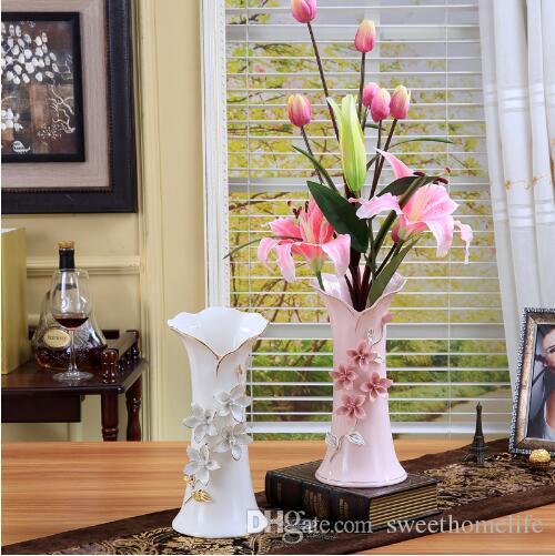 Grosshandel Grosse Bodenvasen Fur Hochzeit Dekoration Keramik Blumen