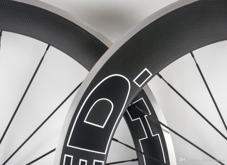 Hed karbon jantlar R36 yarış Wheels düğüm noktası Yol tekerlek seti yarış Alaşım Alüminyum Fren Arka 80mm Tek gariplik tekerlekleri 60mm