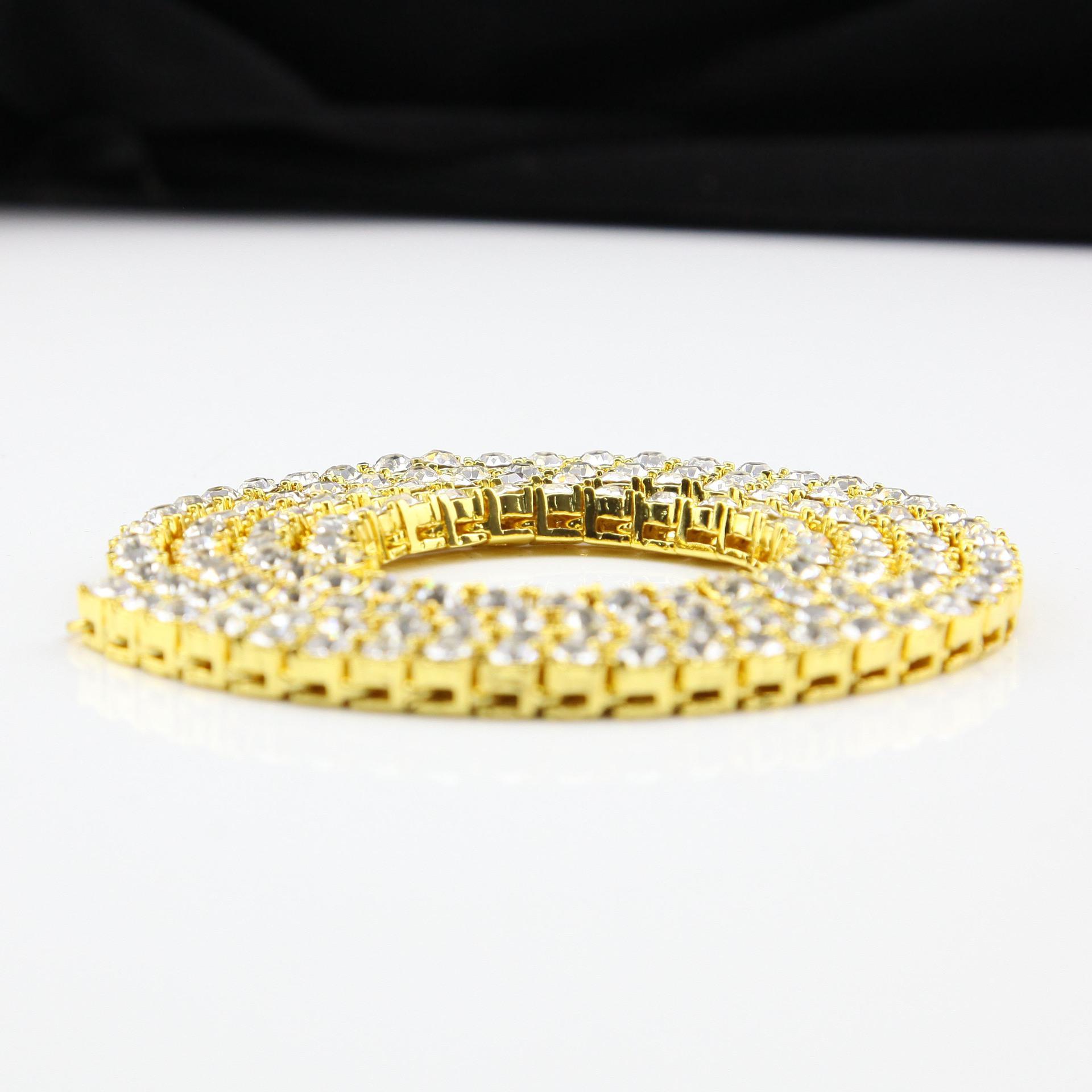 Goldkette Hip Hop Reihe simuliert Diamant Hip Hop Schmuck Halskette Kette 18-20-24-30 Zoll Herren Gold Tone Iced Out Ketten Halsketten