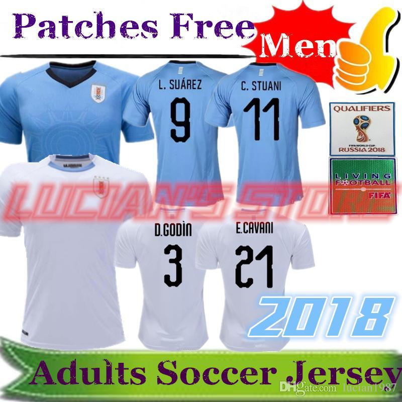 ... 50% off best quality uruguay 2018 suarez soccer jerseys d.godin evani  uruguay home acb235957