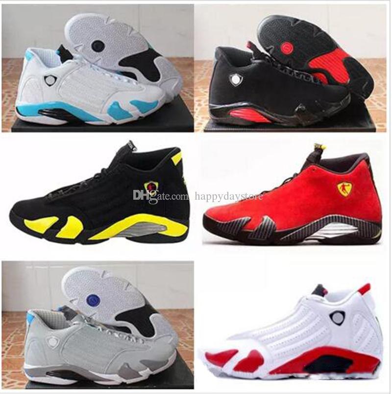 Cheap Wholesale Retro 14 Man Basketball Shoes Oxidized Green Varsity Red  Thunder Black Toe Retro Gs Red Suede Sneaker Boots Shoes Sneakers Jordans  Shoes ... b2170b83a