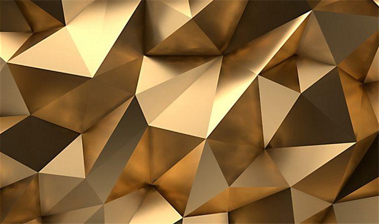 Benutzerdefinierte Fototapete 3D Stereo Abstrakte Raum Goldene Geometrie Wandbild Moderne Kunst Kreative Wohnzimmer Hotel Studie Tapete 3 D