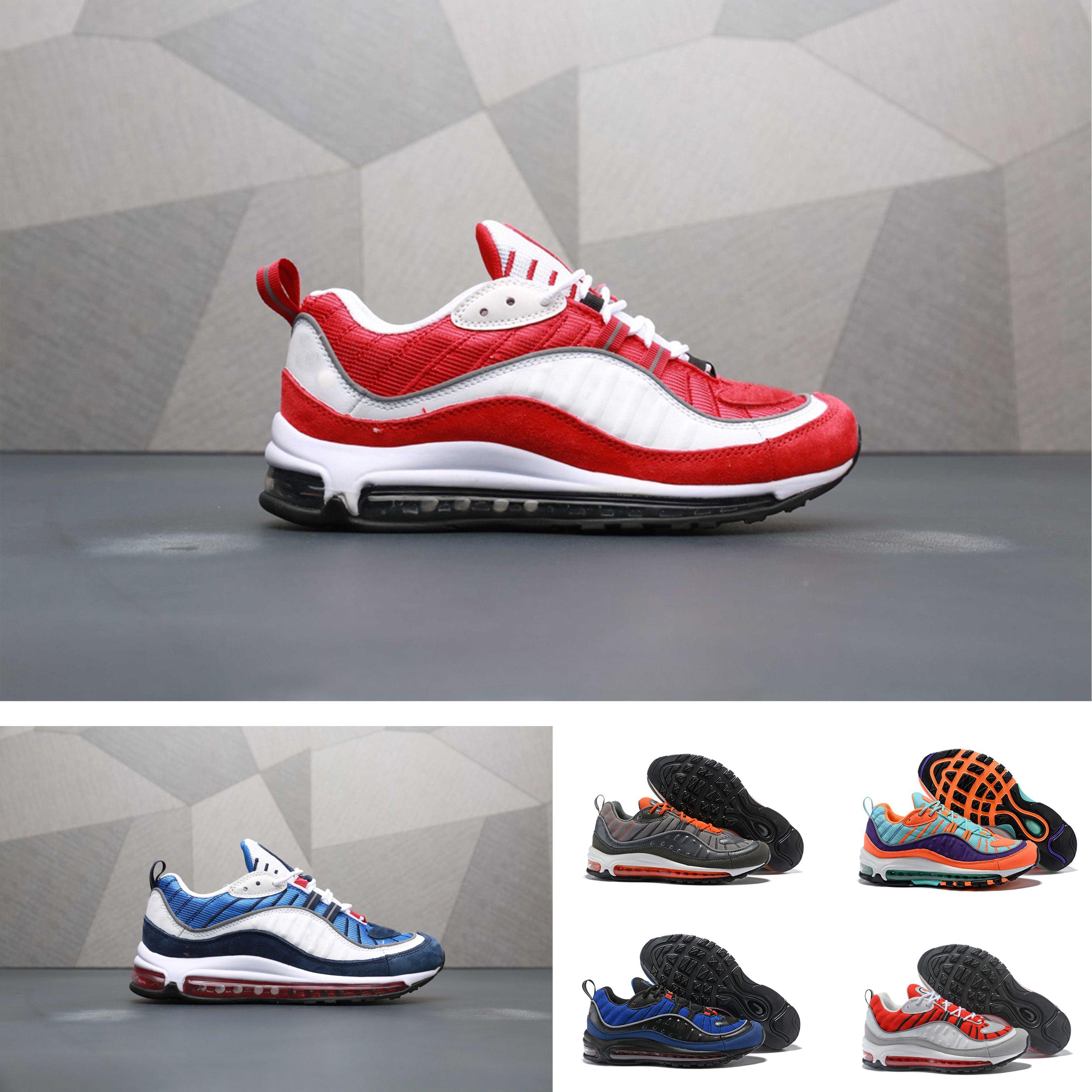 half off b57cb 3dab0 Acquista Nike Air Max 98 Designer Shoes Nuovo Arrivo Fashion 98 Bullet  Sneakers Uomo Scarpe Di Design Corss Jogging Scarpe Da Passeggio Uomo  Outdoor Scarpe ...