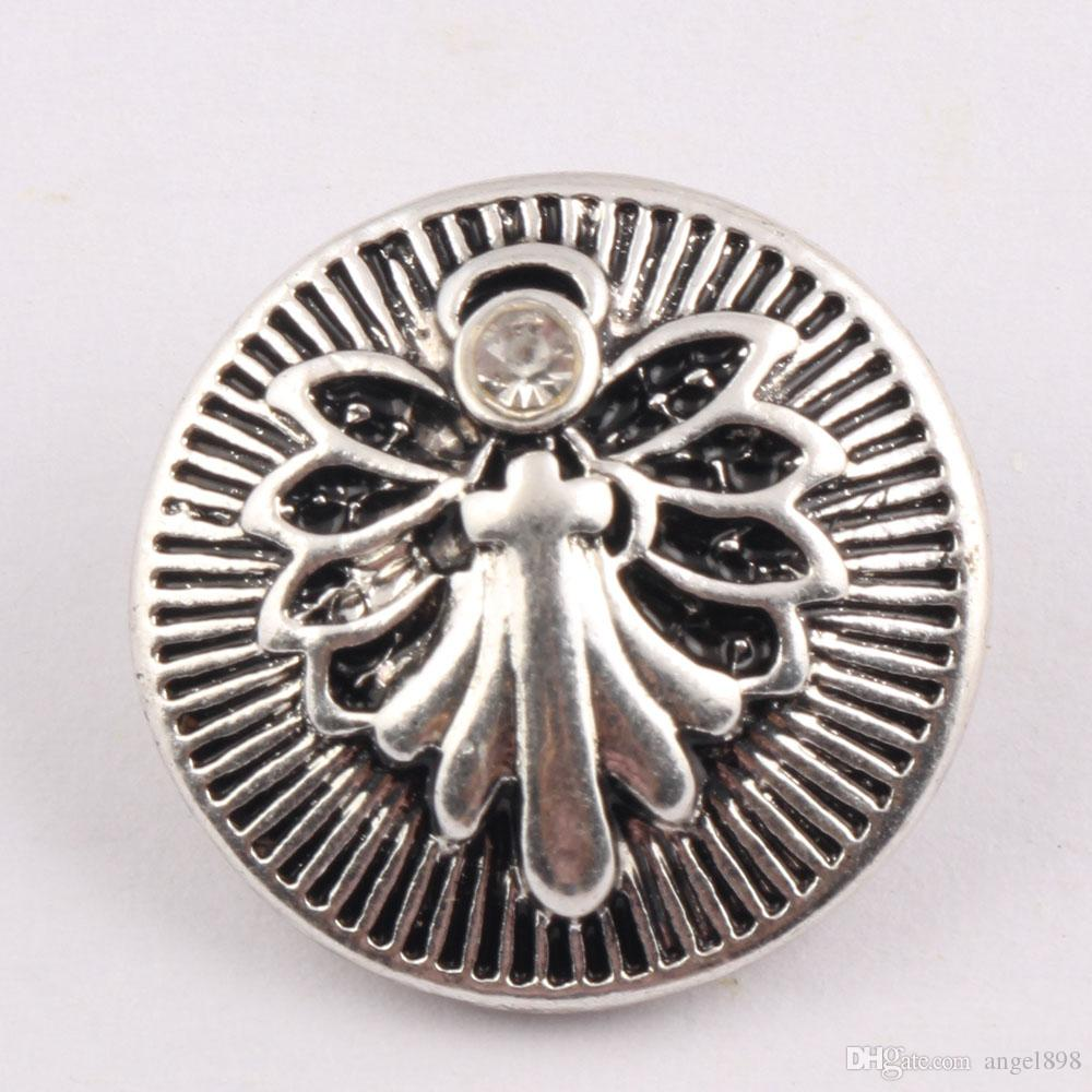 NOOSA Ginger Snap encantos botão de pressão 18 mm botão de libélula Full Bloom libélula