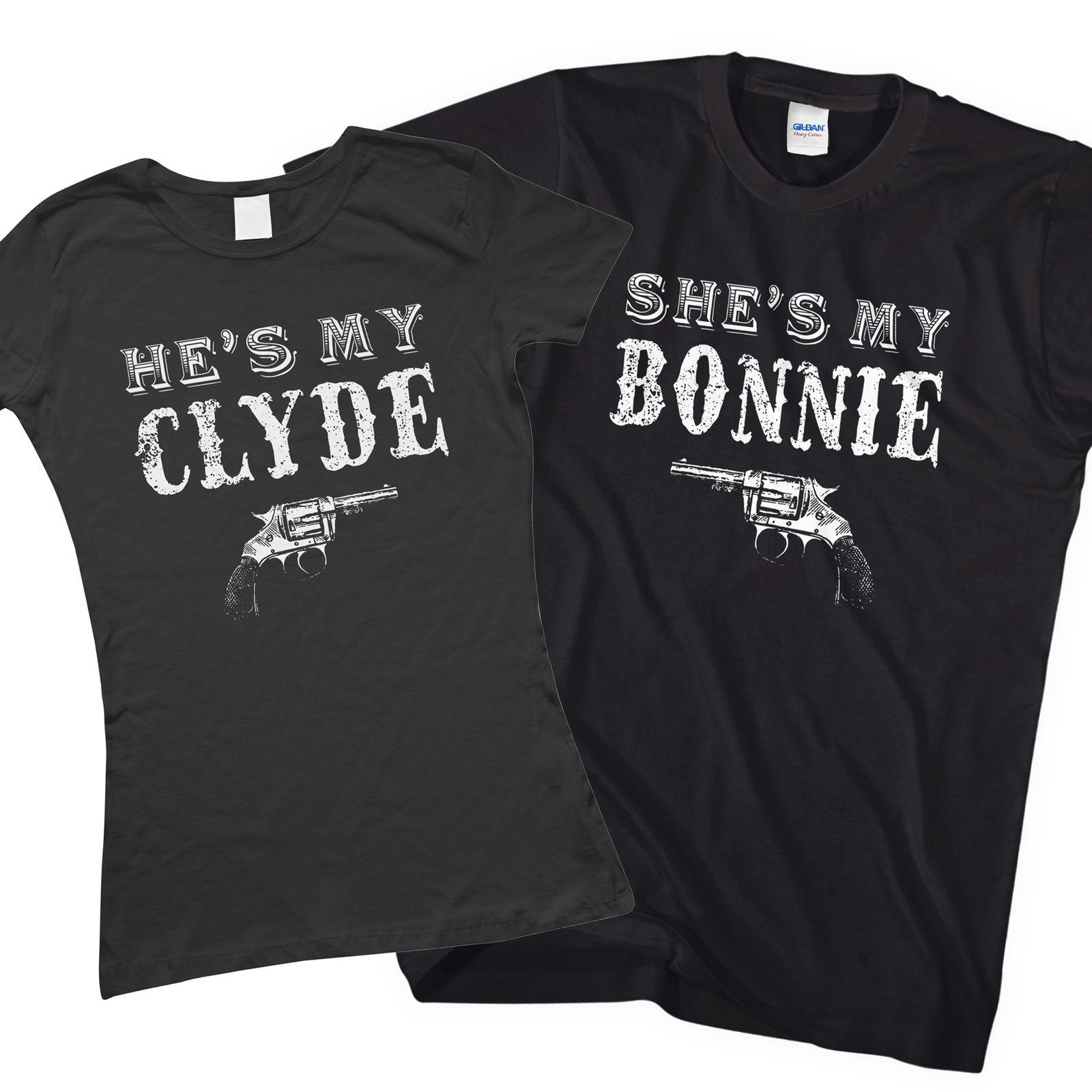Bonnie And Clyde Matching Couples T Shirt Valentines Day Gift For