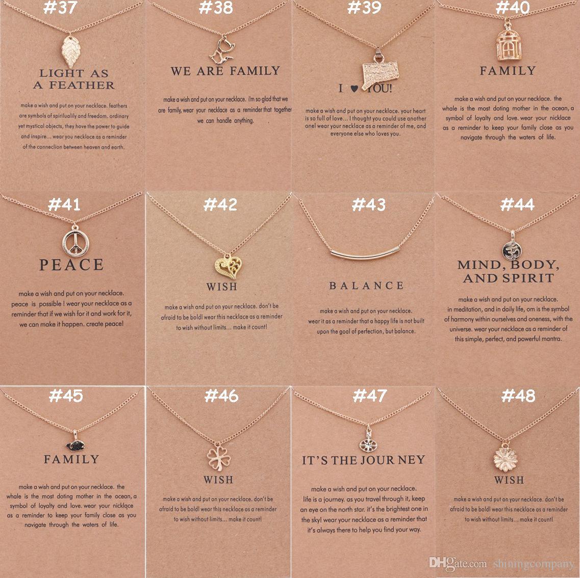 136 Tasarımlar Dogeared Takı Chokers Kolye Ile Kart Altın Gümüş Kaplama Kolye Kolye Arkadaşlar Aileler için Küçük Hediye Promosyon Hediye