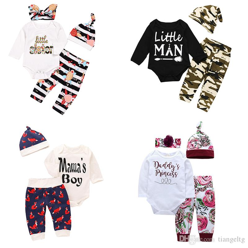 ad0224759aa1 2019 Baby Rompers Pants Caps Headbands Suits My First Halloween Christmas  Thanksgiving Daddy S Princess Baby Sister Mama S Rainbow Boys Girls From  Tiangeltg ...