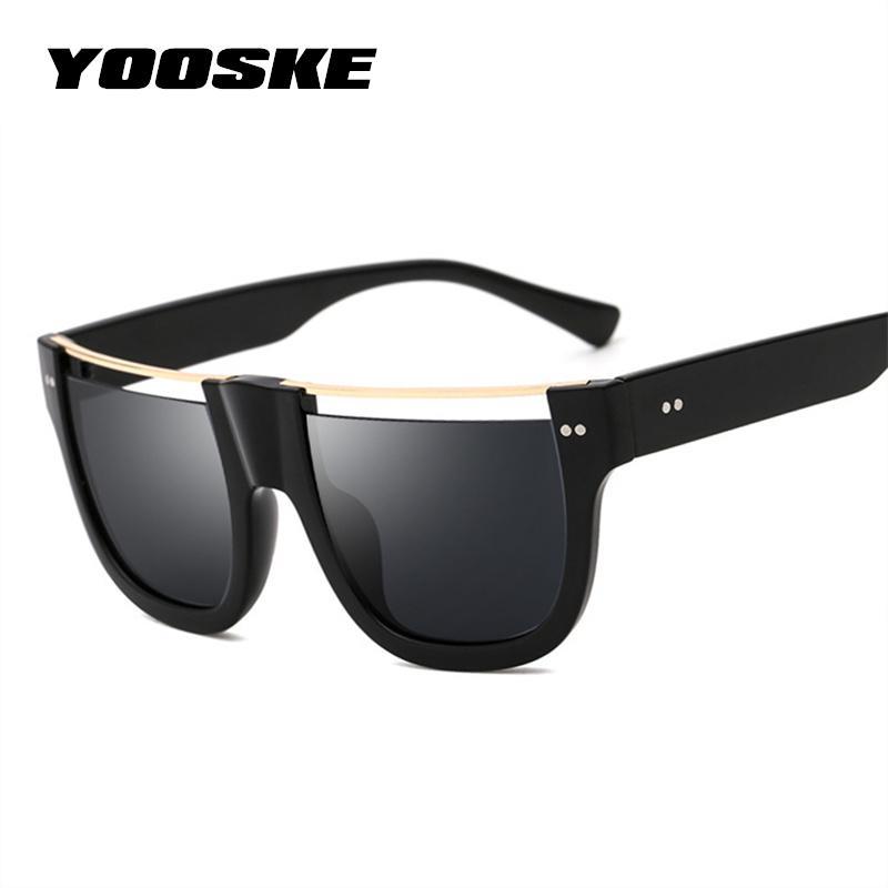 Großhandel Yooske Vintage Halbrand Sonnenbrille Männer Frauen Platz ...