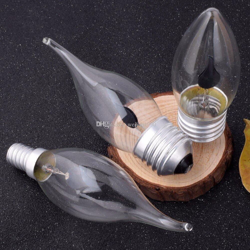 E27 E14 Динамическое светодиодное пламя лампочки 3W творческий свет светодиодный мигающий симуляция атмосфера декоративная светлая свеча форма 8 шт.