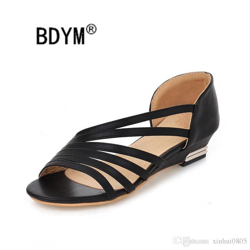 Summer Brande Women Print Leather Nomad Sandal Buckle Strap Designer Lady Open Toe Studs Casual Sandals Size EU36-42 buy cheap official site hZQ1q