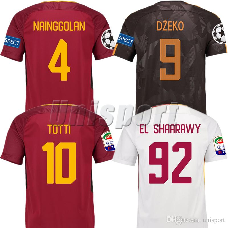 Best Quality 2017/18 Rome Home Away Third Soccer Jerseys Totti Dzeko  Nainggolan Futbol Camisa As Football Camisetas Shirt Kit Maillot Roma At  Cheap Price, ...
