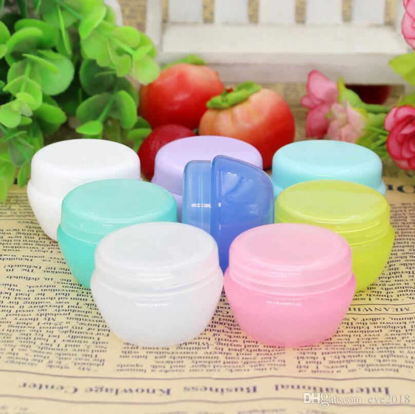 10g Empty cream boxes cream Jar mushroom cream bottle cosmetic packaging refillable bottles plastic bottles LX1222