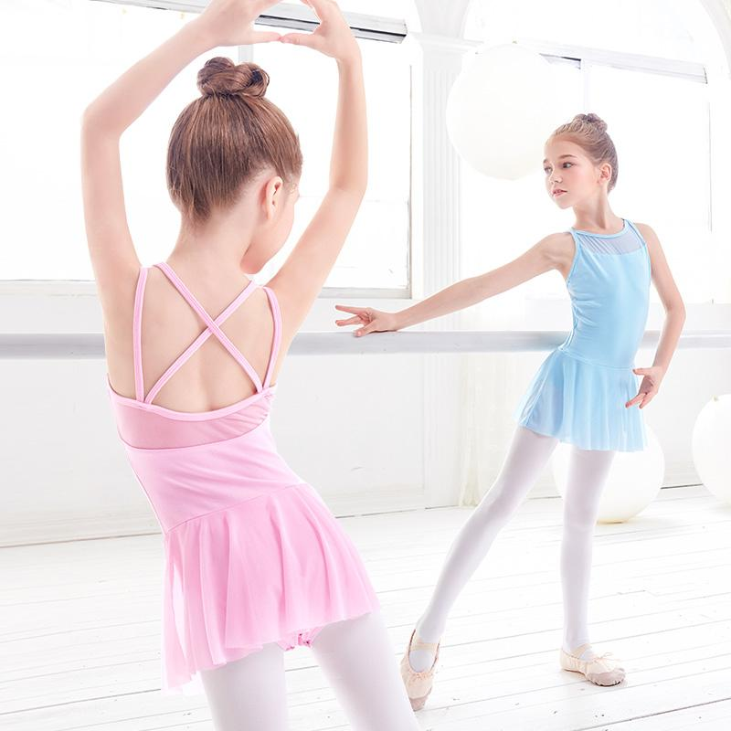 b1d95c6e2120 2019 Straps Mesh Ballet Dress Girls Kids Ballet Clothes Dance ...