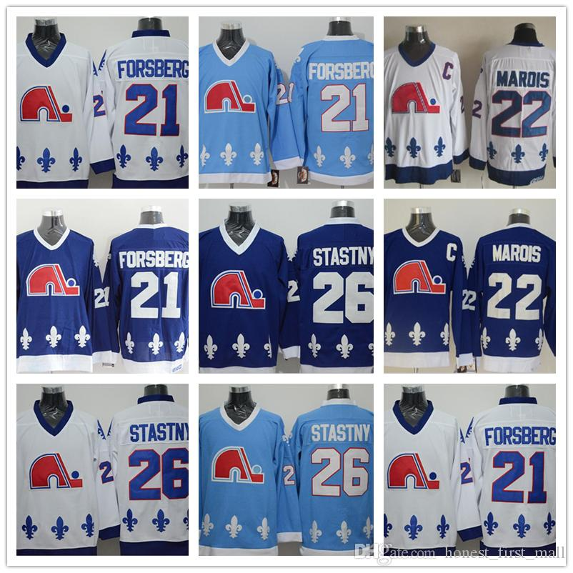 Men s Stitched CCM Vintage Jerseys Quebec Nordiques 21 Peter ... 9a416e748