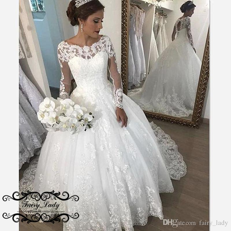 Discount Amazing Sheer Lace Country Wedding Dresses With Long