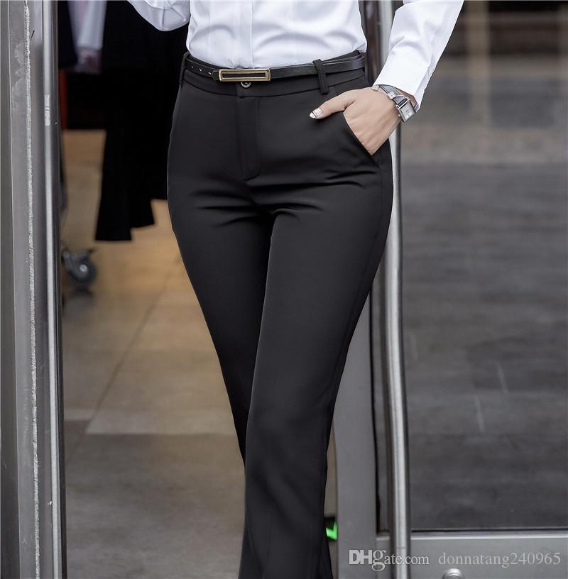 Pantalones Gris Mujer Pantalón De Vestir De Talla Grande