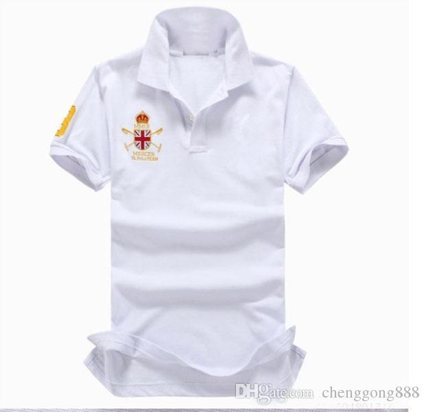 the best attitude c1e82 98bdf Herren Poloshirt Marken Slim Fit Casual Solid Polo Shirts Marke Kleidung  Kurzarm Mode Große Pferd Stickerei Polo Sommer Top-Qualität