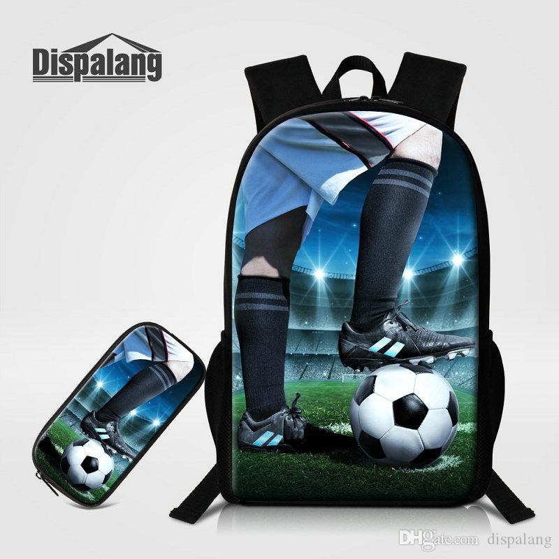3D Printing Soccer Pupil School Bags Kids Pencil Case Backpacks Personality  Basketball Bookbags For Boys Men S Bagpacks Schoolbags Back Pack Cute  Backpacks ... 1aaa11be895c0