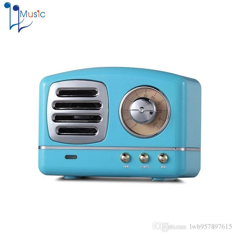 Retro Hifi Stereo Bluetooth V4.1 Speaker Portable Wireless Vintage ...
