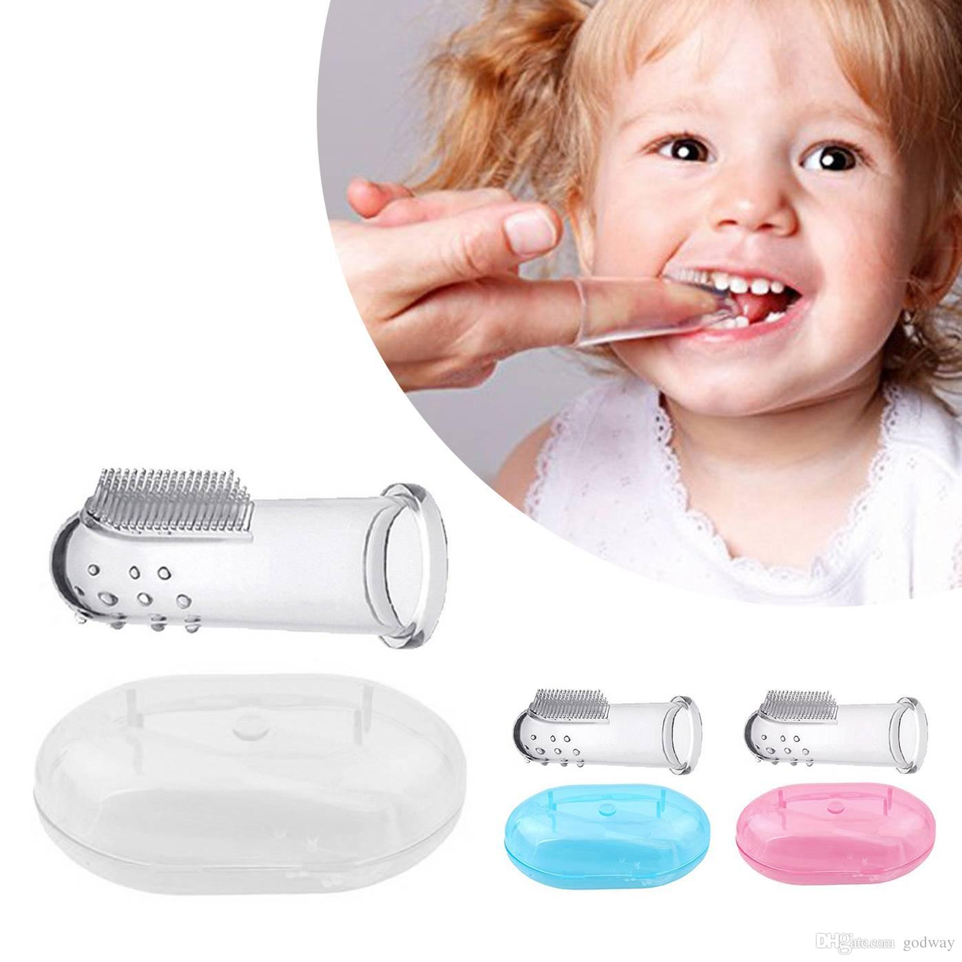 2019 Kids Baby Infant Soft Silicone Teeth Massager Finger