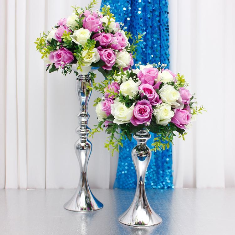 Grosshandel Blumen Ball Metall Halter Tischdeko Zubehor Hochzeit