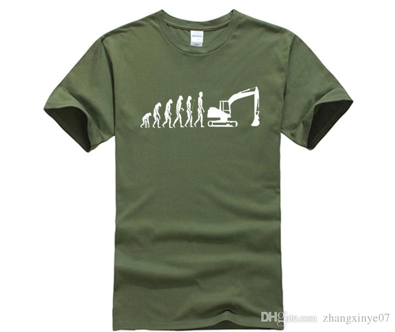 Compre Camisa De T Designer Evolução T Shirt Máquina Escavadeira Veículo De  Construção Caterpillar Trabalhador Da Construção Passatempo Camiseta De ... 5d12e7aa3a219