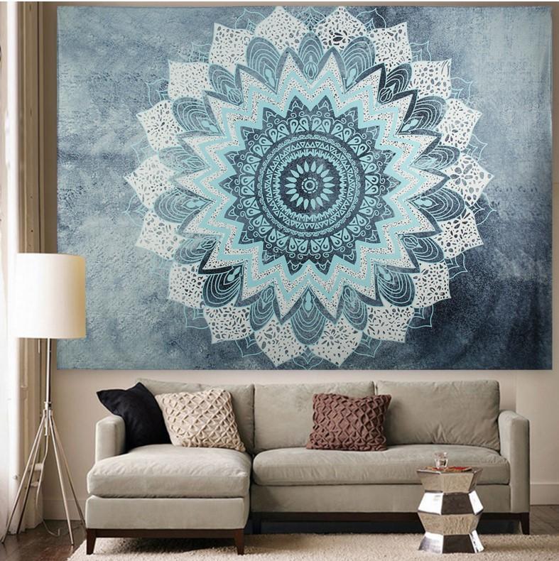 tapicería dossal decrative paño sofá mesa cubierta150 * 200 cm tejido de poliéster transferencia de calor impresión del dígito sudeste asiático diseño africano