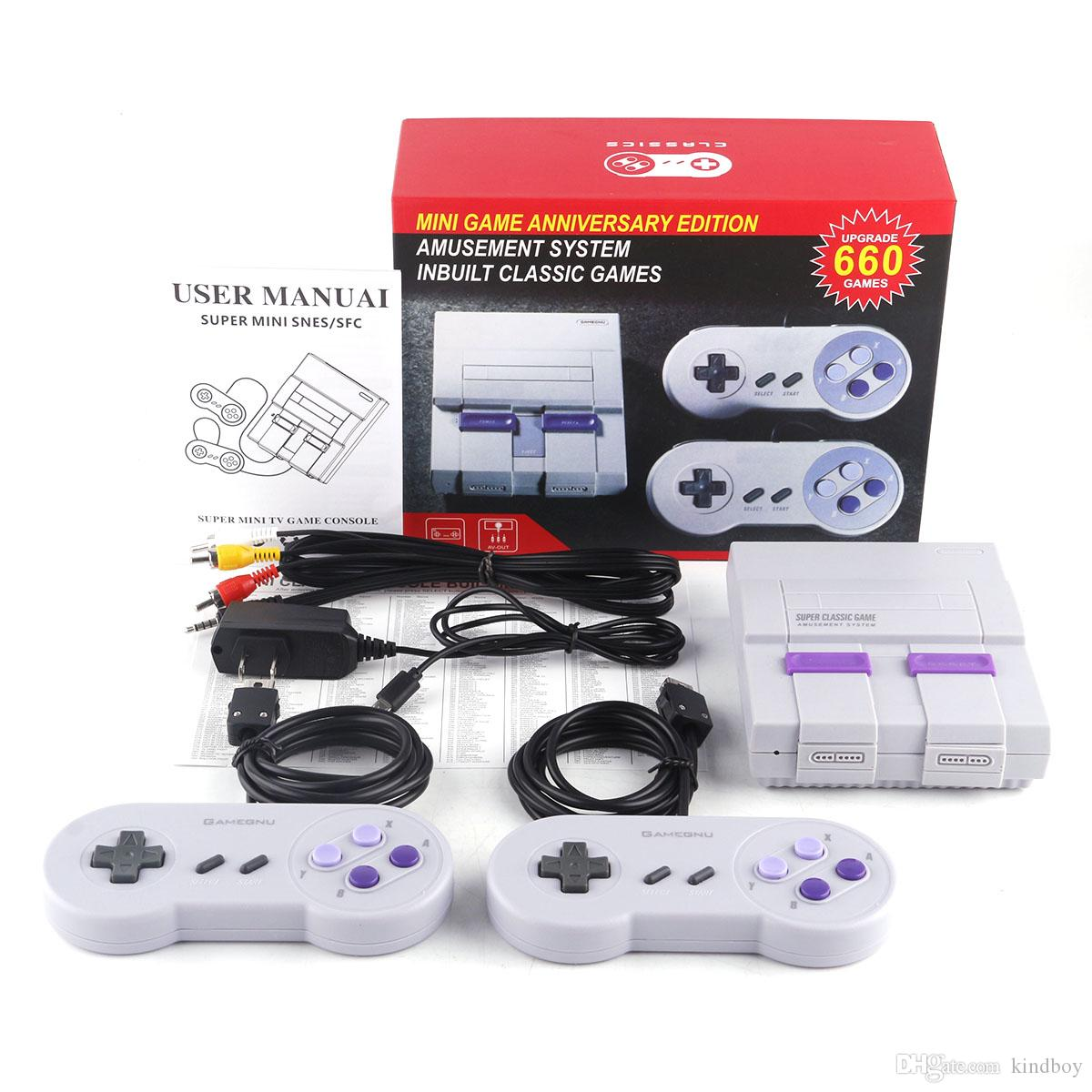 Mini Game Console Video Handheld for SNES games consoles with retail box FAST DELIVERY DHL from kindboy