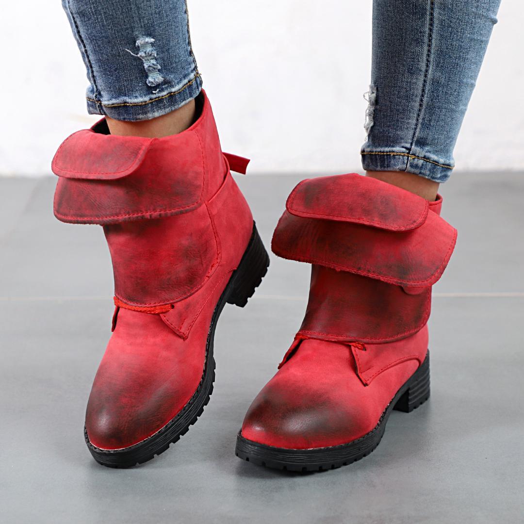 2097209fd72f8 Acheter Grandes Tailles 35 43 Automne Et Hiver Bottes Pour Femmes Casual  Chaussures Dames Martin Bottes Poignets En Daim Et Cheville Bas Talon De  $45.73 Du ...