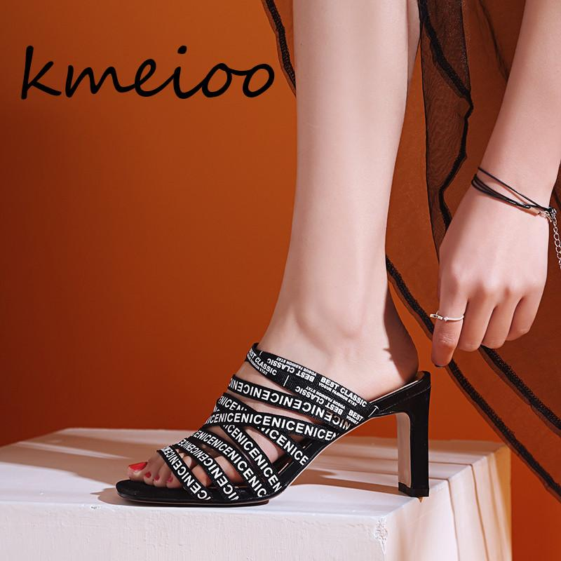 703b4c174c1 Kmeioo 2018 Sandals Open Toe High Heels Women Slippers Shoes Heel Clear  Sandals Lace Up Summer Women Open Toe Shoes Cheap Shoes For Women Buy Shoes  Online ...