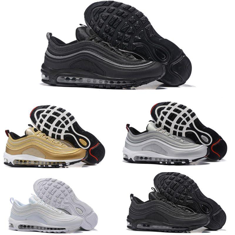 Nike Air Max 97 Airmax 2018 97 Schuhe Triple weiß schwarz pink Laufschuhe Og Metallic Gold Silber Bullet Herrentrainer Damen Sportschuhe Turnschuhe