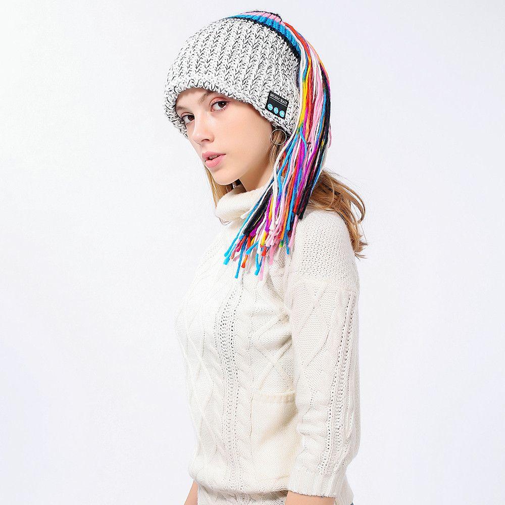 4196270f819 2018 Fashion Style Winter Women Novelty Hat Wireless Bluetooth 4.2 Smart Cap  Headphone Headset Speaker Mic Hot Sale Baseball Hat Beach Hats From  Clintcapela ...