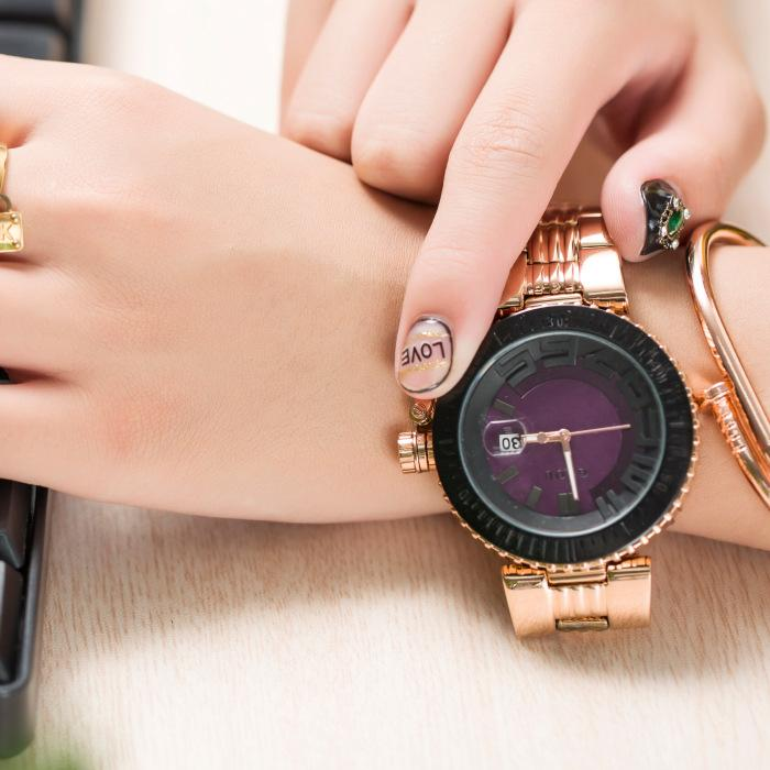 9b86876abb6d Compre 2018 Moda Reloj Guou Mujer De Primeras Marcas De Lujo Reloj De Oro  Rosa Mujer Simple Mujer Reloj De Cuarzo Señoras Reloj De Pulsera Mujer A   38.27 ...