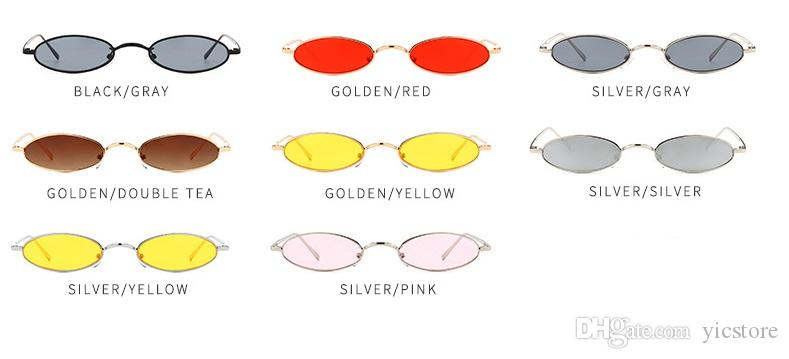Compre Unisex Pequeno Oval Vermelho Óculos De Armação De Metal Mulheres  Homens Elipse Lentes Cor Clara Designer De Marca De Moda Óculos De Sol Para  Femal ... a803a5cb22
