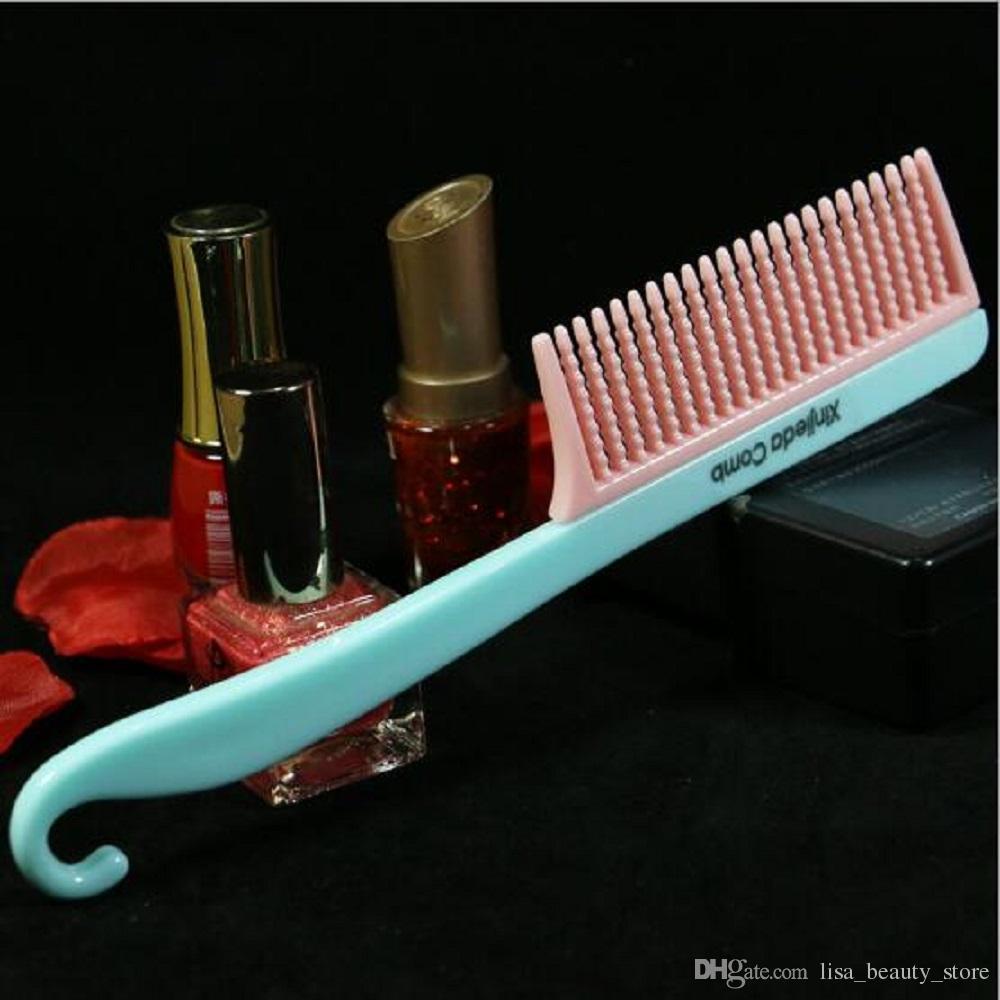 spazzola capelli creativa nuovo splicing può appendere pettine di plastica ragazze carine pettine bambini pettine domestico all'ingrosso