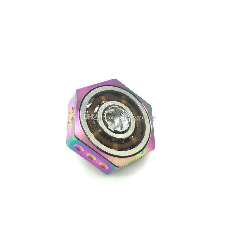 VAPE SPINNER Geek Spinners Fidget Toy Metal Fingertips Gyro For 510 Thread RDA RTA RDTA Tank DHL free