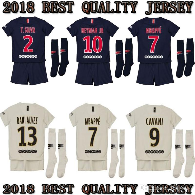 608fa5bff 2019 2018 2019 PSG CHAMPIONS LEAGUE HOME AWAY KIDS Kit Soccer Jerseys 18 19 Mbappe  7 Home VERRATTI CAVANI DI MARIA LASS CHILD SHIRT From Fengbao1