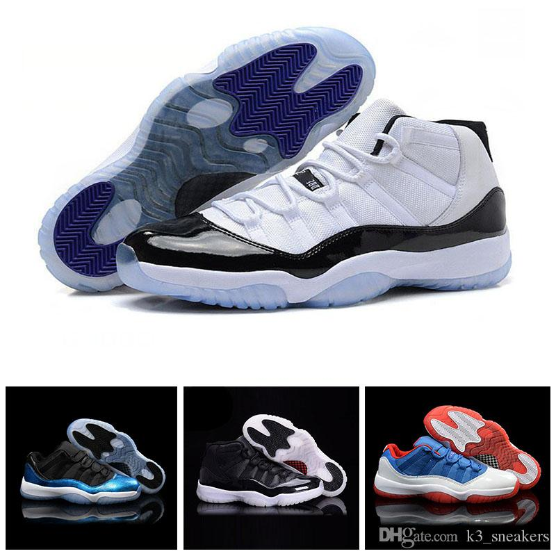 2018 New classical 11 Basketball Shoes Men Women High Gym Red Midnight Navy Space Jam Barons Georgetown Low Bred Concord Varsity Red Sneaker new styles for sale clearance 2015 new best prices for sale under 50 dollars free shipping new PPblj31u