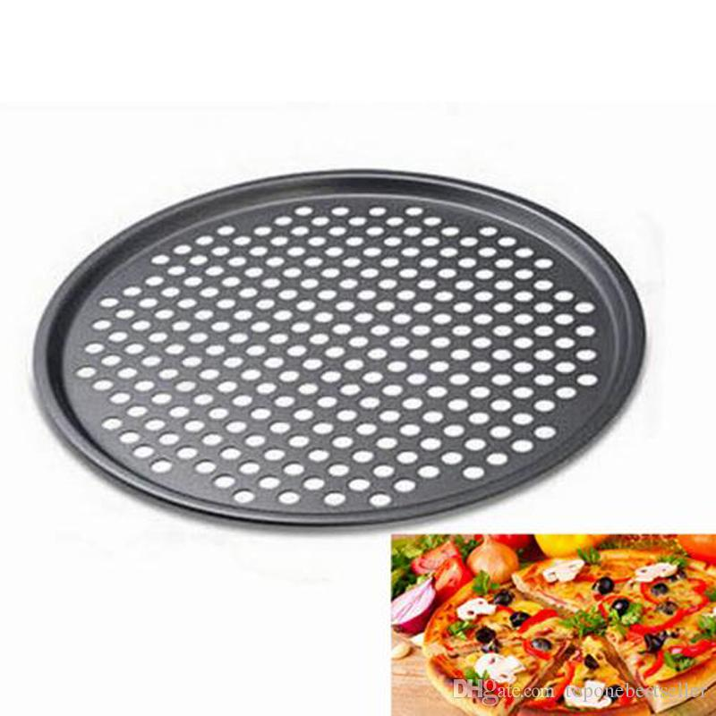 2018 12inch Non Stick Pizza Pan Round Tray With Holes