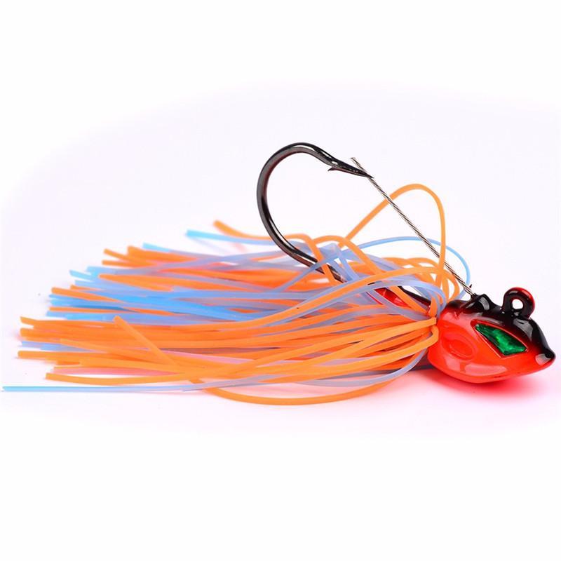 Бакенбарды кальмар бас джиги спиннер рыболовные приманки 8 см 13 г борода хвост 3D реалистичные рыбы глаза приманки с большой один крюк