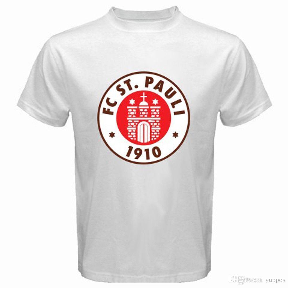 c0adac37d33d7 Großhandel 2018 Neue Mode Mann Neue St. Pauli Fc Sankt Pauli Red Logo  Männer Weiß T Shirt Größe S M L Xl 2xl 3xl Hohe Qualität Top Tees Von  Yuhui007, ...