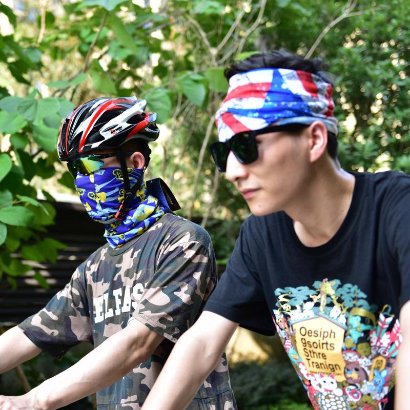 Bandanas Echarpes multifonctions Masques vélo en plein air écharpe magique turban cheveux Sunscreen bande équitation Cap multi Styles