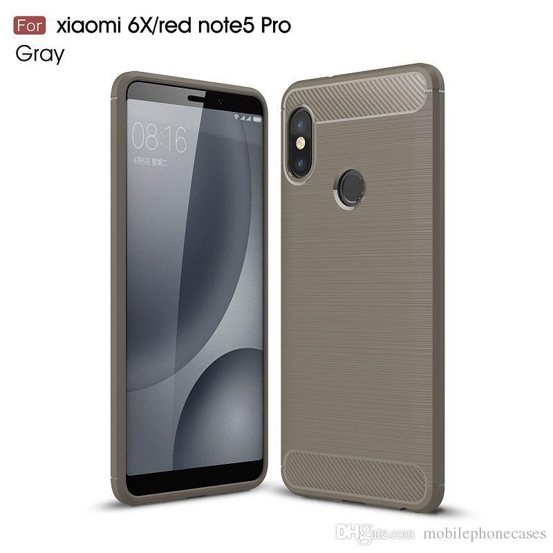 2018 New CellPhone Cases For Redmi Note5Pro Luxury Carbon Fiber heavy duty case for Xiaomi6X cover