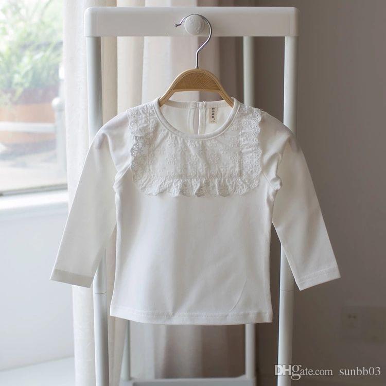 3625f786ccf7 New Autumn Baby Girls Cotton T-shirt Kids Long Sleeve Tops Tee Children Girl  White Tshirt 14212 Kids Tshirts Online with  44.05 Piece on Sunbb03 s Store  ...