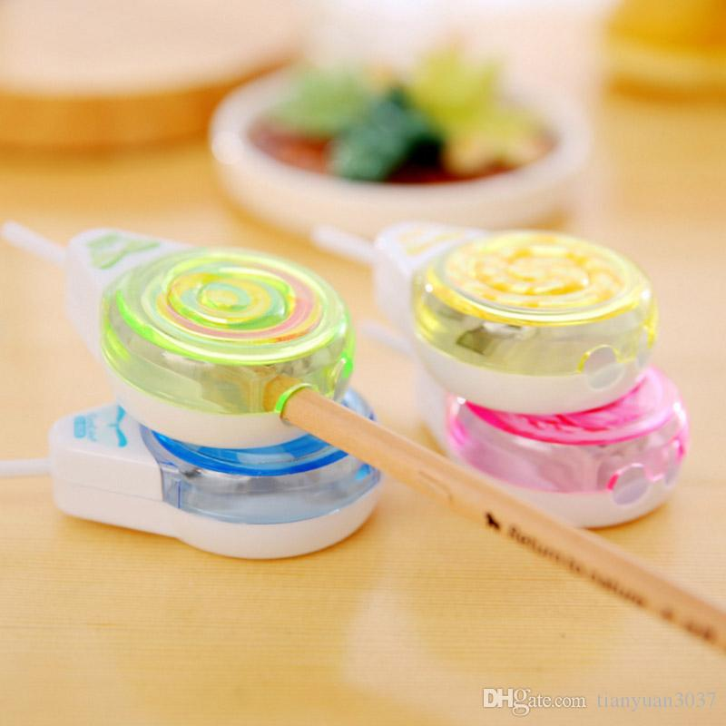 Creative Cute Kawaii Plastic Lollipop Pencil Sharpener For Kids Gift Novelty Item School Supplies Student