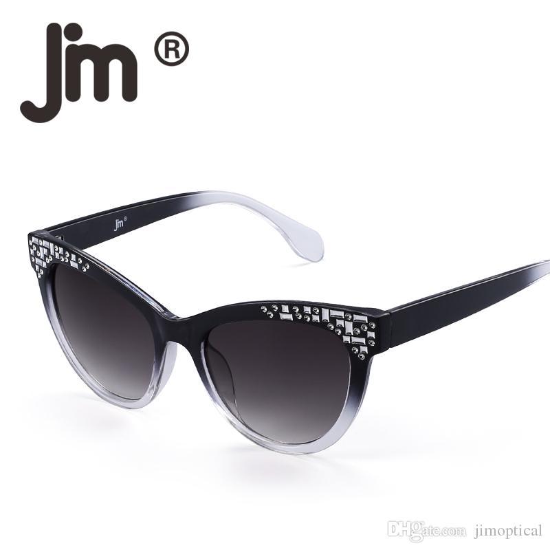 a2fc1eb9e7ae Luxury Embellished Oversized Cat Eye Frame Sunglasses Stylish Brand ...