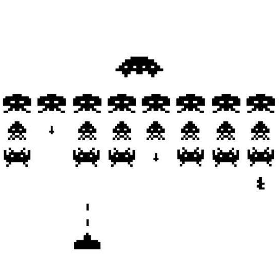 sticker mobile Gamer Vinyl Stickers SPACE INVADERS Video Game Play Room  Wall Decal sticker 3d arcade toys