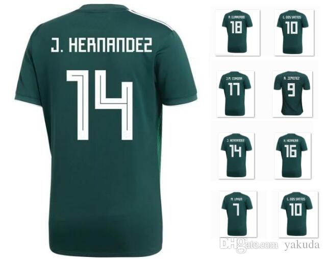 2019 Customized Thailand Quality Mexico 2018 19 14 J.Hernandez Thai Quality  Soccer Jersey a25f909a9