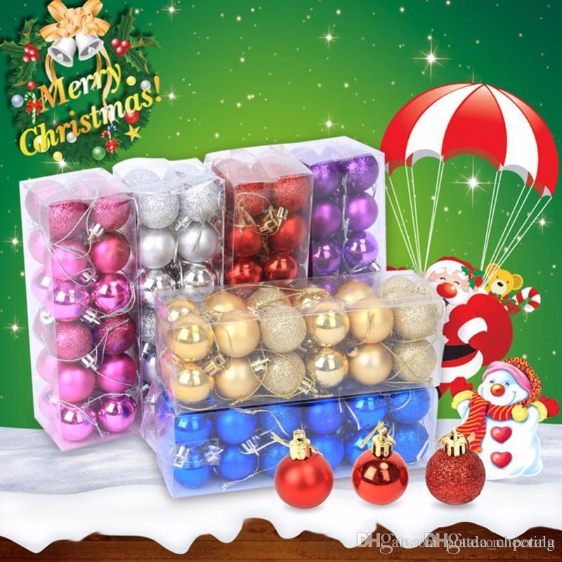 dc85351f49b Compre 4 CM Moderno Brillante Bola Del Árbol De Navidad 1.6 Pulgadas  Baubles Partido Boda Ornamento Colgante De Navidad Año Nuevo Suministros De  Decoración ...