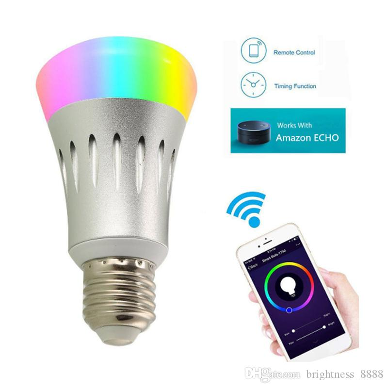 Led Bulbs & Tubes B22 Wifi Remote No Hub Required Light Led Wake Up Timing Home Device Smart Bulb Equivalent Voice Control Compatible For Alexa